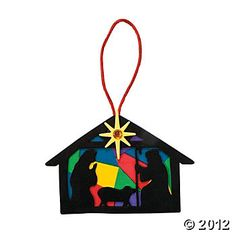 Nativity Silhouette Ornament Craft Kit, Ornament Crafts, Crafts for Kids, Craft & Hobby Supplies - Oriental Trading