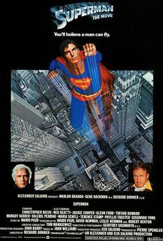 Superman: The Movie (1978) Original English One Sheet Movie Poster
