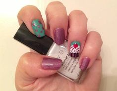 This #ManiMonday from #MakepMaven Regional Winner Rebecca is as sweet as a cupcake!