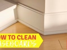 Need to know how to clean your baseboards in your home. Here you will find 5 methods of cleaning your baseboards. Cleaning Mold, Household Cleaning Tips, Deep Cleaning Tips, House Cleaning Tips, Cleaning Solutions, Cleaning Hacks, Cleaning Products, Baseboard Cleaner, Cleaning Baseboards