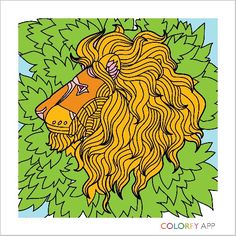 Colorfy lion so fantastic