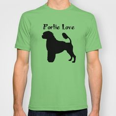 Portuguese Water Dog Portie Love  T-shirt by Whimsy and Nonsense - $22.00
