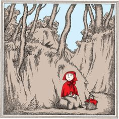 Edward Gorey Illustrates Little Red Riding Hood and Other Classic Children's Stories   Brain Pickings
