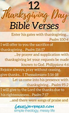 12 Bible verses on Thanksgiving, 5 quotes from Christian leaders on being thankful, PLUS a printable for you to take with you! #Thanksgiving #Bible #Printable #Download https://genewhitehead.com/bible-verses-thankful/
