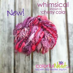 Handspun Thick Thin Yarn by Colorful Nest by TrickyKnits, $32.50 - like it? Save 10% with code PIN10 at https://www.etsy.com/listing/104962386/handspun-thick-thin-yarn-by-colorful  #knitting #yarn