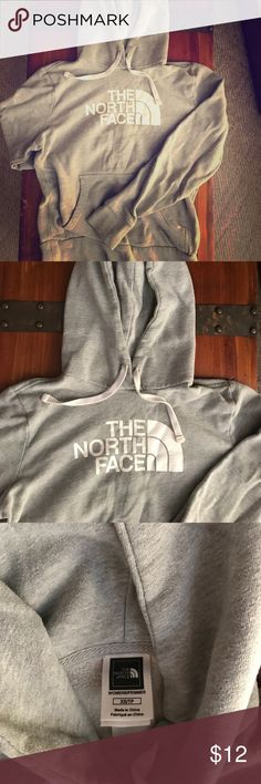 North Face hoodie Gray North Face hoodie, warm and comfy :) North Face Tops Sweatshirts & Hoodies