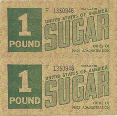 2 One Pound Ration Coupons by sugarpacketchad, via Flickr
