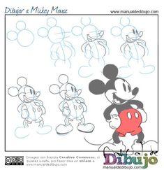 Tutoriales de dibujo. Como dibujar a Michey Mouse