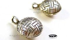 Bell Charm 925 Sterling Silver Sound Charm Karen Hill Tribe Thai KF3- 2 pcs. $17.39, via Etsy.