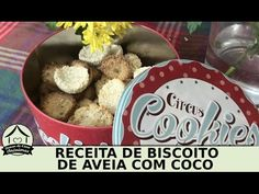 Receita de biscoito de aveia com côco