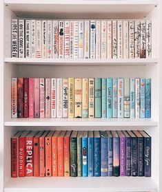 How do you organize your bookshelves? By color, author, size? 📚✨ I went through all my books and completely reorganized my bookshelves… I Love Books, Great Books, Books To Read, My Books, Quiet Books, Book Club Books, Book Nerd, Book Lists, Book Organization