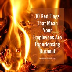 10 Red Flags That Me