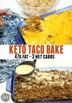 My kids love tacos, and this Keto Taco Bake had them raving last night. Now I will say this thing is like a fat bomb explosion so if you having a hard time