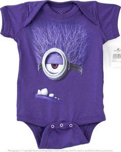 Authentic Despicable Me Purple Evil Minion Baby Onesie