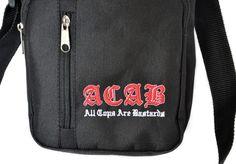 Motyw kibicowski na torebce 'ACAB' ---> Streetwear shop: odzież uliczna, kibicowska i patriotyczna / Przepnij Pina!