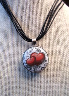 Necklace with interchangeable magnetic pendants cherry blossoms items similar to necklace with interchangeable magnetic pendants hearts on etsy aloadofball Images