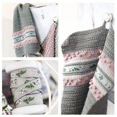 """Gehäkeltes Handtuch aus unserem Buch """"Claras Geschichten - Frühling & Sommer"""" #acufactum #haekeln #handtuch #apfelbüten #waschen #badezimmer #crochet #towl #washing #bathroom #diy"""