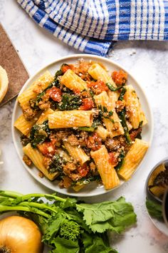 This pasta dish is loaded with Italian flavor. TheLifeJolie uses spicy italian sausage and Tuttorosso San Marzano Style Chopped tomatoes for that rich more. Spicy Sausage Pasta, Great Dinner Recipes, Dinner Ideas, Potato Bites, Pasta Recipes, Recipe Pasta, Pork Recipes, Sweet Potato Casserole