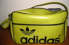Vintage Adidas 1970's Lime Green Gym Bag Made in by salvagetheory, $79.50