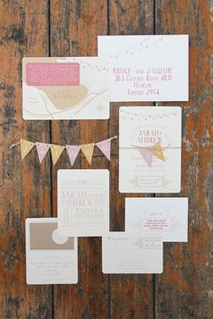 Ruby & Willow Custom Wedding Stationery. this is so freaking cute and of course i love the colors. i want.