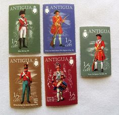 $1.00 - Antigua Military Stamps (122916-8 Stamp) collectibles