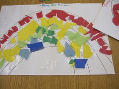 The children were exploring rainbows in their classroom and each class created a different kind of rainbow.    I noticed that everyone started with a sheet of paper with rainbow lines.Read more...