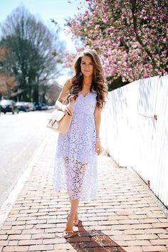 What to Wear to a Spring Wedding – Southern Curls & Pearls Lace Midi Dress, Dress Up, White Dress, Mom Outfits, Fashion Outfits, Women's Fashion, Modern Fashion, Fashion Styles, Casual Outfits