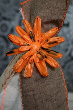 plastic bag flowers...another good idea for all those plastic bags!