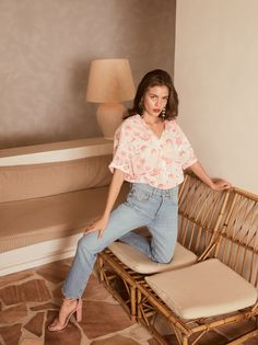 REIKO SPRING SUMMER 2019 Under the sun of the French Riviera Model @rachaellange  Photographed by @andoniarantxa Make Up and hair by @cyril.lanoir #reikojeans #thisismyreikojeans