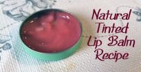 Natural Tinted Lip Stain Recipe with color options Natural Tinted Lip Balm Recipe