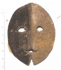 Visard mask from 17th century England. Worn by ladies who had to go out after dark. The mask was intended to give them the appearance of the devil scaring off any evil-doers.