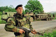 Serbian Army retreat from Kosovo, 1999.