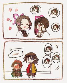 The second part of Kimetsu No Yaiba Doujinshi and Comics which are al… # Historia Corta # amreading # books # wattpad Anime Chibi, Manga Anime, Anime Art, Slayer Meme, Estilo Anime, Dragon Slayer, Cute Anime Couples, Anime Demon, Anime Shows