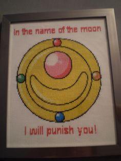 Sailor Moon Brooch Cross Stitch by ChandrakantaAvani.deviantart.com on @deviantART