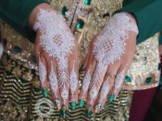 White henna by Henna Ink, Henna Mehndi, Mehendi, Body Art Tattoos, Tatoos, Mehndi Designs, Tattoo Designs, Long Stiletto Nails, Gold Tattoo