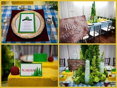 Details for the Wizard of Oz themed table. www.reflectionsweddings.ca
