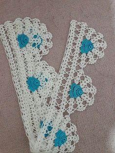 Crochet Edging Patterns, Crochet Borders, Baby Knitting Patterns, Crochet Designs, Crochet Art, Love Crochet, Beautiful Crochet, Crochet Flowers, Crochet Toddler Dress