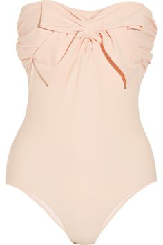 bow-embellished bandeau swimsuit by Miu Miu