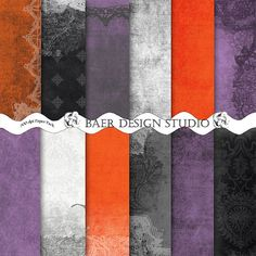 These Halloween Digital Papers are perfect for invitations, Halloween decor and scrapbooking.