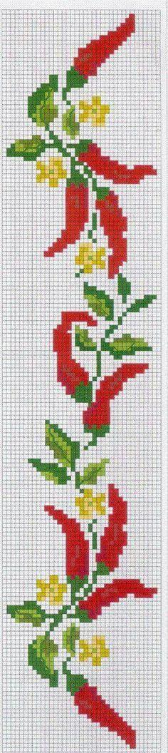 Pimentas Cross Stitch Fruit, Cross Stitch Kitchen, Cross Stitch Bookmarks, Cross Stitch Borders, Simple Cross Stitch, Cross Stitch Flowers, Cross Stitch Charts, Cross Stitch Designs, Cross Stitching