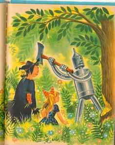 The Wizard of Oz illustrated by Tom Sinnickson, 1951.