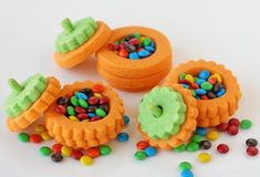 Pumpkin Cookies Awesome Halloween Cake Haunted Forest Halloween Cupcakes Dracula's Dentures Mix Cupakes (I don't have the link) Worms cake (I don't have the link) Witches Fingers Cheesecake Mousse Halloween Desserts, Halloween Cookie Recipes, Halloween Goodies, Halloween Treats, Halloween Fun, Halloween Decorations, Spooky Treats, Halloween Baking, Halloween Cakes