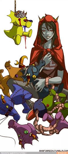 Terezi and scalemates  (oh gog they are the trolls and... IGETTHATANDIMFREAKINGOUTOGBLUHBLUH)