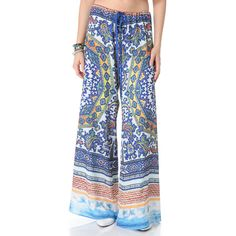 Clover Canyon Surf Wide Leg Pants ($290) ❤ liked on Polyvore