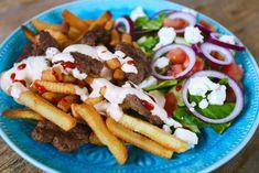 HEMMAGJORD KEBAB - Jennys Matblogg Kebab Wrap, Cobb Salad, A Food, Tacos, Pizza, Mexican, Ethnic Recipes, Torsdag, Apples