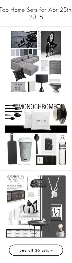 """""""Top Home Sets for Apr 25th, 2016"""" by polyvore ❤ liked on Polyvore featuring interior, interiors, interior design, home, home decor, interior decorating, Gus* Modern, Middle Kingdom, Park B. Smith and Balmain"""
