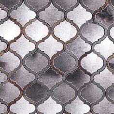 Veranda Paris Gray Quartz & Mirror Tile - Arabesque Tile - Shop By Tile Shape and Pattern