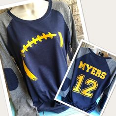 Mama Glitter original Football Mom shirt for women. Can also easily be a shirt for Grandma, Aunt, Girlfriend, or biggest fan!  ***THESE SHIRTS RUN AT LEAST 1 SIZE SMALL. THEY ARE FITTED IN THE BUST & ARM AREA AND ARE MORE RELAXED AROUND THE WAIST. PLEASE ORDER UP 2 SIZES IF YOU LIKE YOUR SHIRTS TO Football Girlfriend, Football Mom Shirts, Football Love, Football Players, Sports Mom, Yellow Lace, Girlfriends, At Least, Running