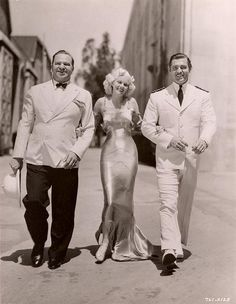 """Wallace Beery, Jean Harlow, and Clark Gable, publicity photo for """"China Seas."""""""