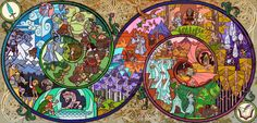 Lord of the Rings illustrated in stained glass 496 by borntocross